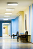 Reception in hospital with corridor Royalty Free Stock Photography