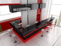 Reception in hotel stock illustration