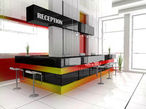 Reception in hotel Royalty Free Stock Photography