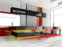 Reception in hotel Stock Photography