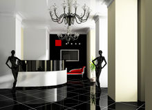 Reception in hotel royalty free stock photos