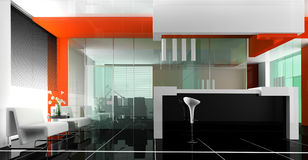 Reception in hotel vector illustration
