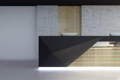 Reception illuminata nella parte anteriore interna di lusso Fotografia Stock
