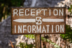 Reception&information Στοκ φωτογραφία με δικαίωμα ελεύθερης χρήσης