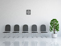 Reception with leather chairs Royalty Free Stock Photos
