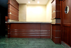 Reception and lobby. Empty lobby and reception desk Royalty Free Stock Photo
