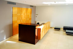 Reception and lobby. Empty lobby and reception desk Stock Photo