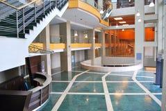 Reception and lobby. Empty lobby and reception desk Stock Photos