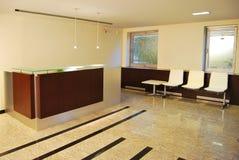 Reception and lobby. Empty lobby and reception desk Royalty Free Stock Photos