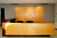 Reception and lobby. Empty lobby and reception desk Stock Images
