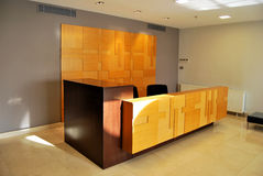 Reception and lobby. Empty lobby and reception desk Stock Photography