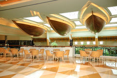 Reception lobby area in luxurious hotel. Dubai, UAE Royalty Free Stock Image