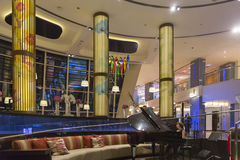 Reception lobby area in luxurious hotel, Dubai, UAE Stock Images