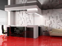Reception in modern hotel vector illustration