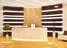 Reception in a modern office. Reception in a large modern office stock photo