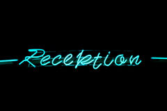 Reception neon sign Royalty Free Stock Images