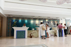 Reception of the new hotel Royalty Free Stock Images