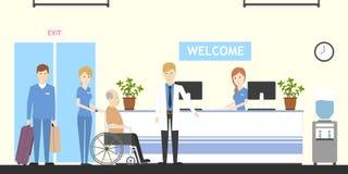 Reception at nursing home. Royalty Free Stock Photos