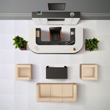 Reception Office Top View Illustration Royalty Free Stock Photos