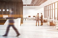Reception in open space office, people royalty free stock photo