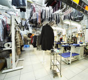 Reception point of dry cleaning Royalty Free Stock Photo
