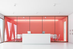 Reception and red meeting room Royalty Free Stock Photos