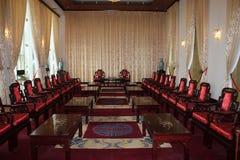 Reception room. Formal oriental reception room in Vietnam Royalty Free Stock Photo