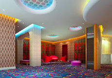 A reception room. 3d render, hall Stock Photography