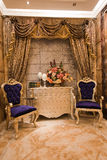 The reception room. Modern family decoration, pay attention to the design of the reception room Royalty Free Stock Photography