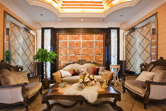 The reception room. Modern family or hotel decoration, pay attention to the design of the reception room Stock Images