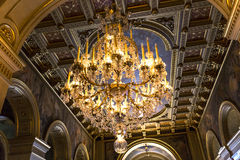 Reception rooms of the city hall, Paris, France Stock Image