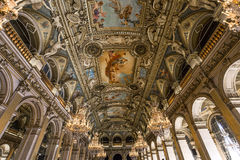 Reception rooms of the city hall, Paris, France Royalty Free Stock Photos