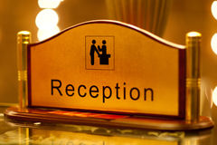 Reception sign Royalty Free Stock Images