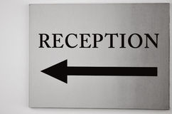 Reception sign Royalty Free Stock Image
