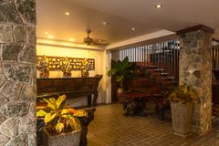 Reception and swimming pool of Thai hotel Stock Images