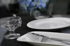 Reception Table Detail Stock Photo