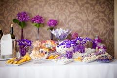Beautiful wedding reception sweet buffet royalty free stock photo