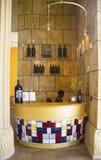 Reception at the tasting room at Darioush Winery in Napa Valley Stock Photo