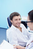 The reception was at the dentist Royalty Free Stock Photo