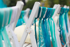 Reception wedding chairs Royalty Free Stock Image