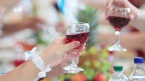 Reception on wedding stock footage