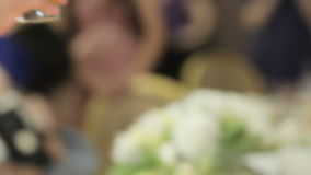 Reception on wedding stock video footage