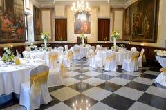 Reception Wedding Tables In Monastery Royalty Free Stock Photos