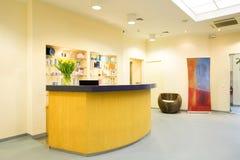 Reception in wellness center Stock Photos
