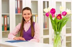 Receptionist fotografia stock