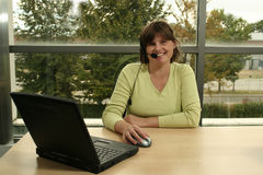 Receptionist. Smiling Stock Image
