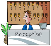 Receptionist royalty free illustration