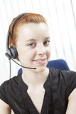 Receptionist or call centre operator Royalty Free Stock Image