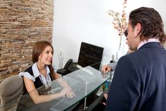 receptionist di affari Fotografie Stock