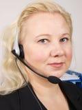 Receptionist femminile Fotografie Stock